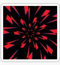 Black Lightning Vortex Sticker
