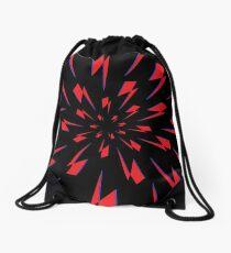 Black Lightning Vortex Drawstring Bag