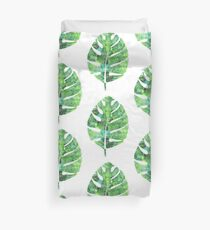tropical green watercolor (1) Duvet Cover