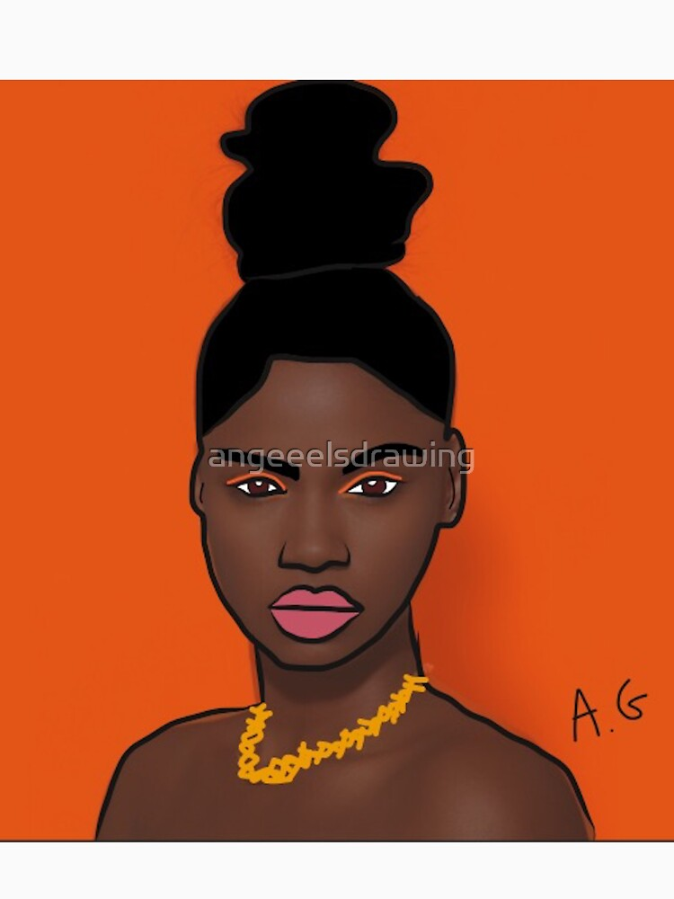 African model by angeeelsdrawing