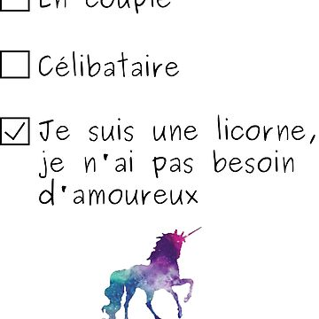 I'm a licorn by agateau