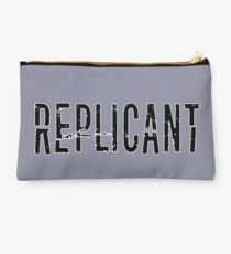 Replicant Blade Runner Distorted Font Studio Pouch