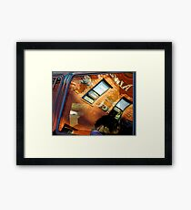 Reflections In Metal and Glass Framed Print