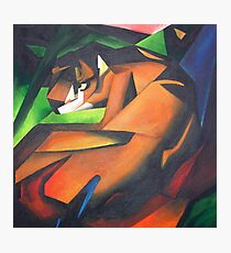 Tiger After Franz Marc Photographic Print