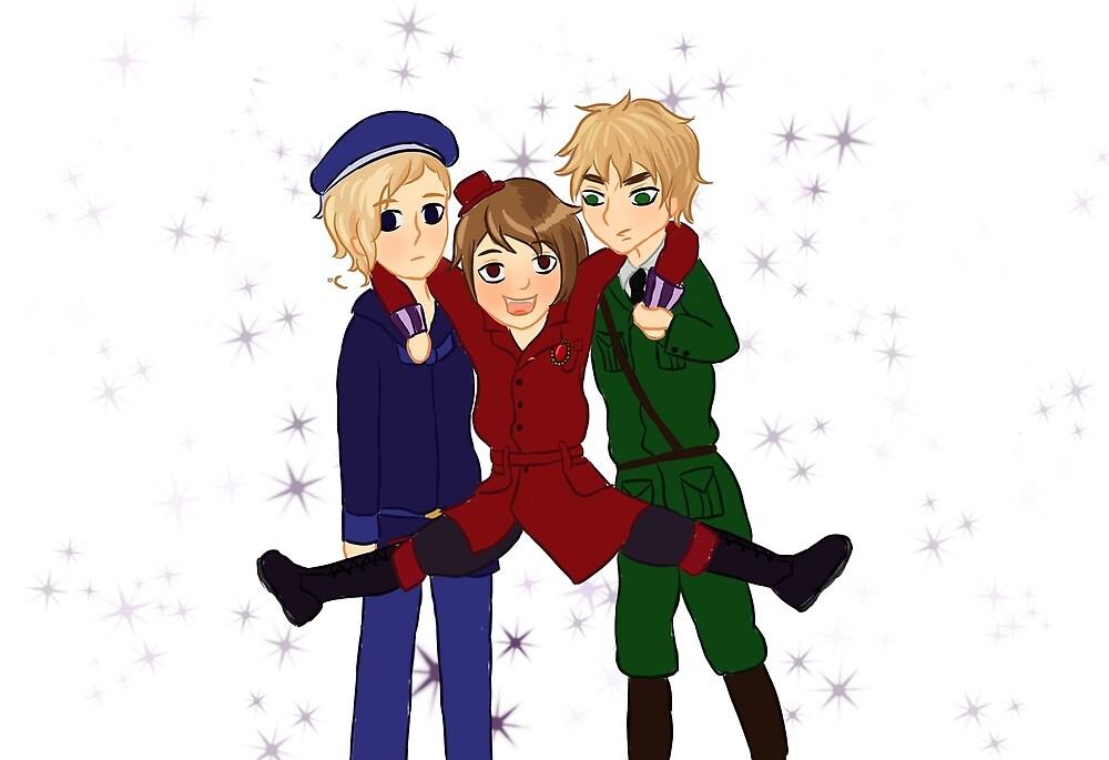 Hetalia Magic trio by GwynethLlewelyn