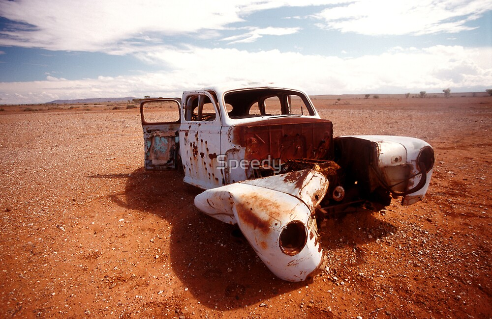 Abandoned Car in Outback by Speedy