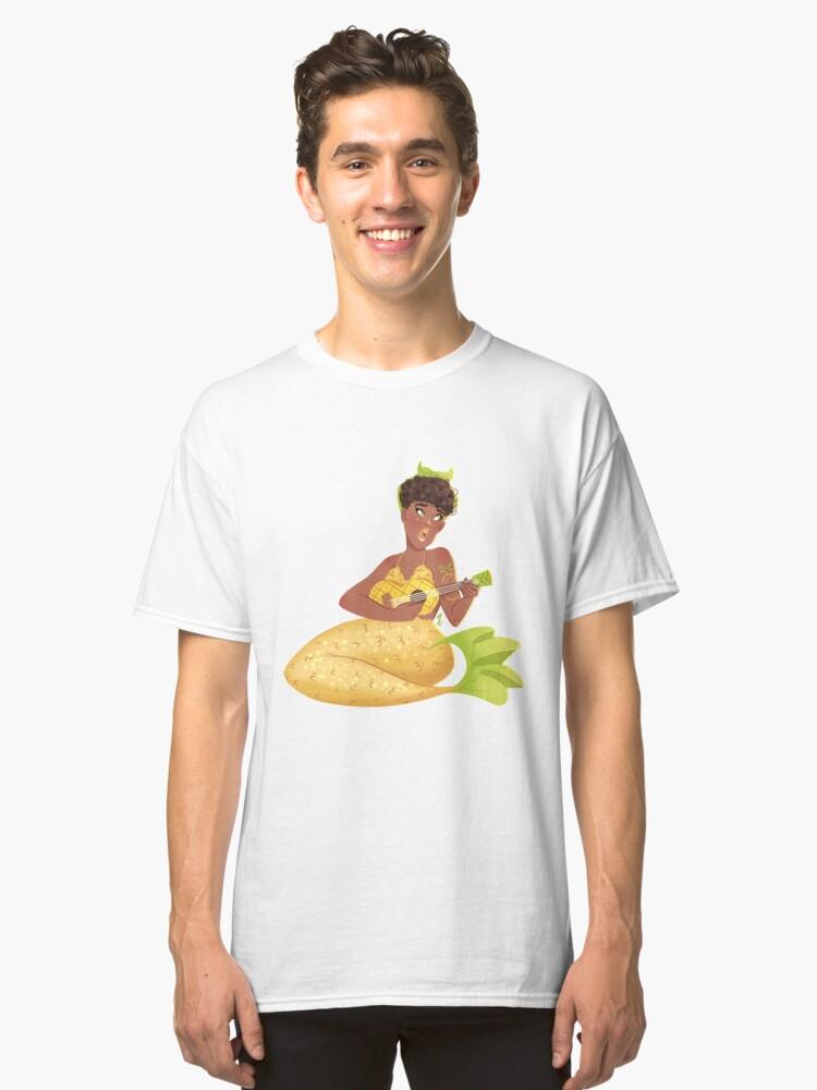 Pineapple mermaid Classic T-Shirt Front