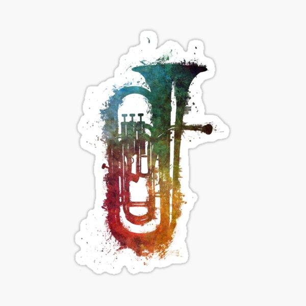 euphonium music art Sticker