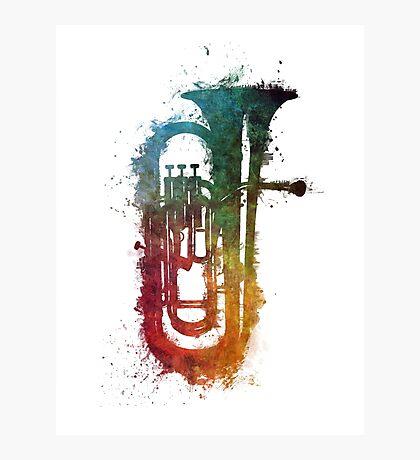 euphonium music art Photographic Print