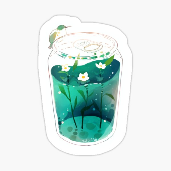 summer soda. Sticker
