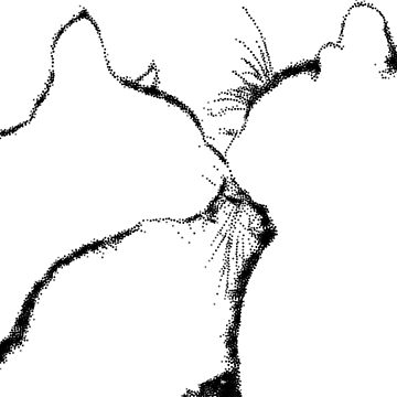 Kissing Cats Silouette by colorARTillery