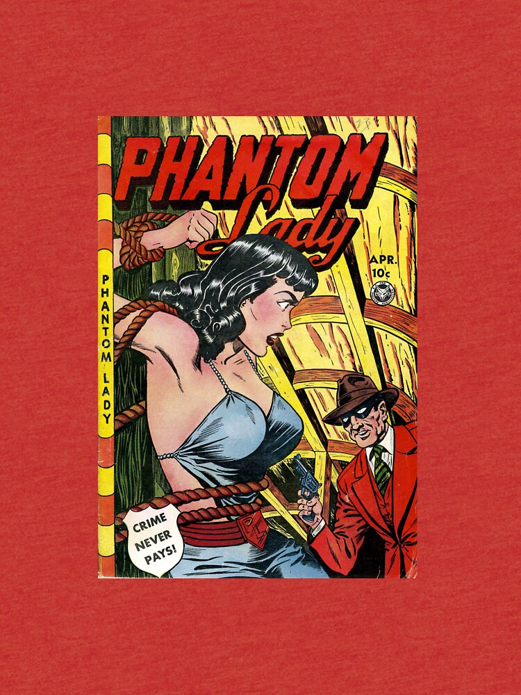 Vintage Phantom Lady Comic Book by pdgraphics