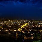Night Panorama of Cuenca, Ecuador III by Al Bourassa