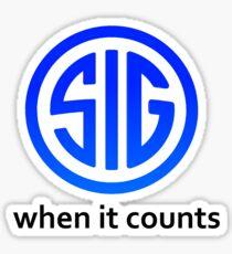 SIG Sauer Firearms Logo Sticker