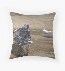 Loretta Lynn's SW Area Qualifier - Rider #48 Into the turn Competitive Ede MX - Hesperia, CA, (162 Views as of May 9, 2011) Throw Pillow