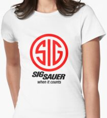 Sig Sauer When it Counts! Womens Fitted T-Shirt