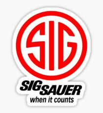 Sig Sauer When it Counts! Sticker