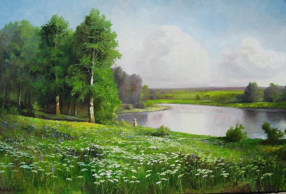 Summer meadow  by Alexander Koval