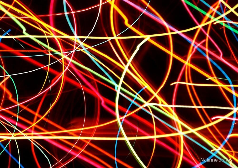 Christmas Light Abstract by Nalinne Jones
