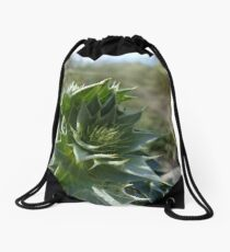 Sea Holly (Eryngium maritimum) Drawstring Bag