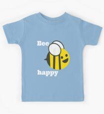 Bee Happy - retro awesome! Kids Tee