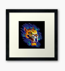 Sabre-Tooth Cat Framed Print