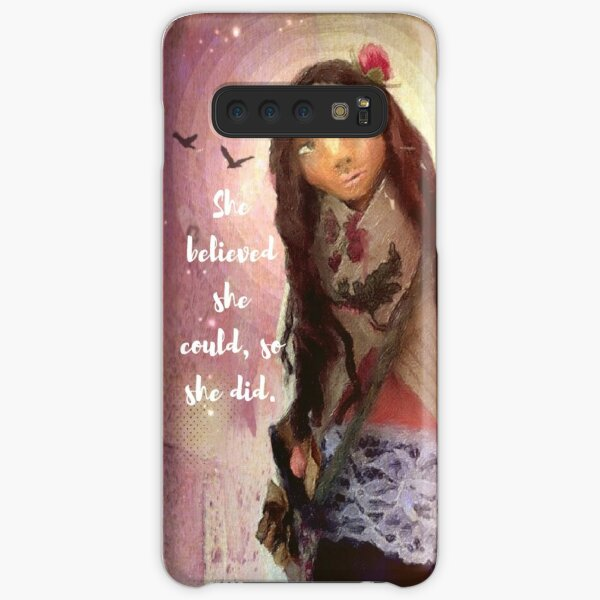 """""""Wisdom Keeper Series 1: She Believed She Could"""" Samsung Galaxy Snap Case"""