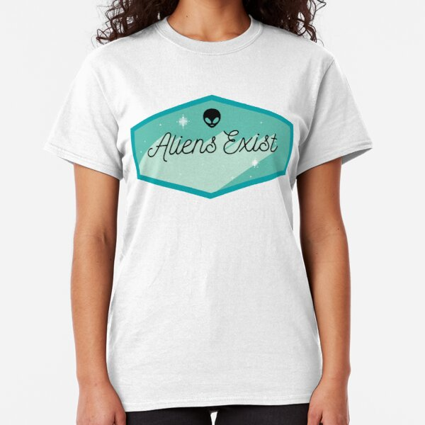 Ladies T-Shirt I REALLY DONT BELONG HERE Alien Space Spaceship UFO ET Funny Top