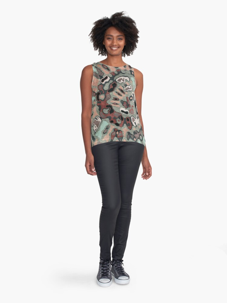 Alternate view of Art, Illustration, Modern, Contemporary, Psychedelic  Sleeveless Top