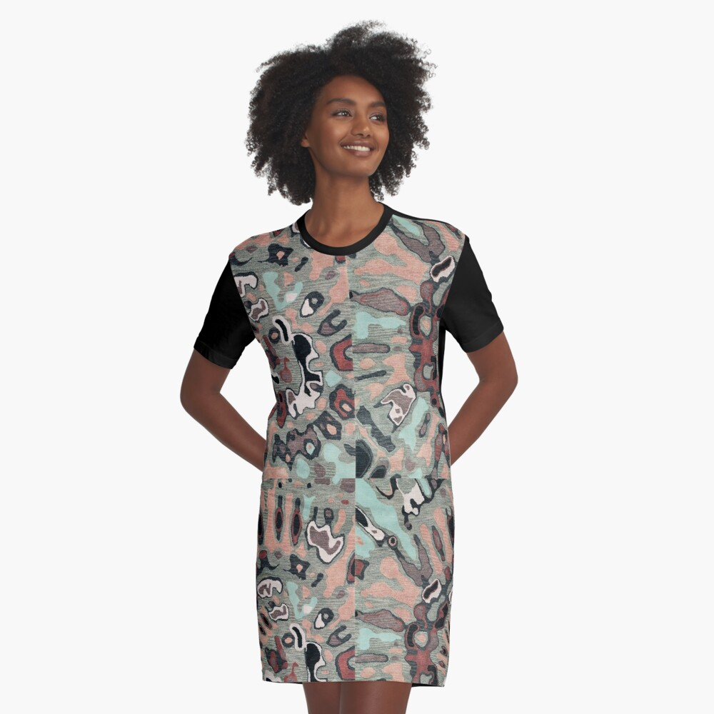 Art, Illustration, Modern, Contemporary, Psychedelic  Graphic T-Shirt Dress