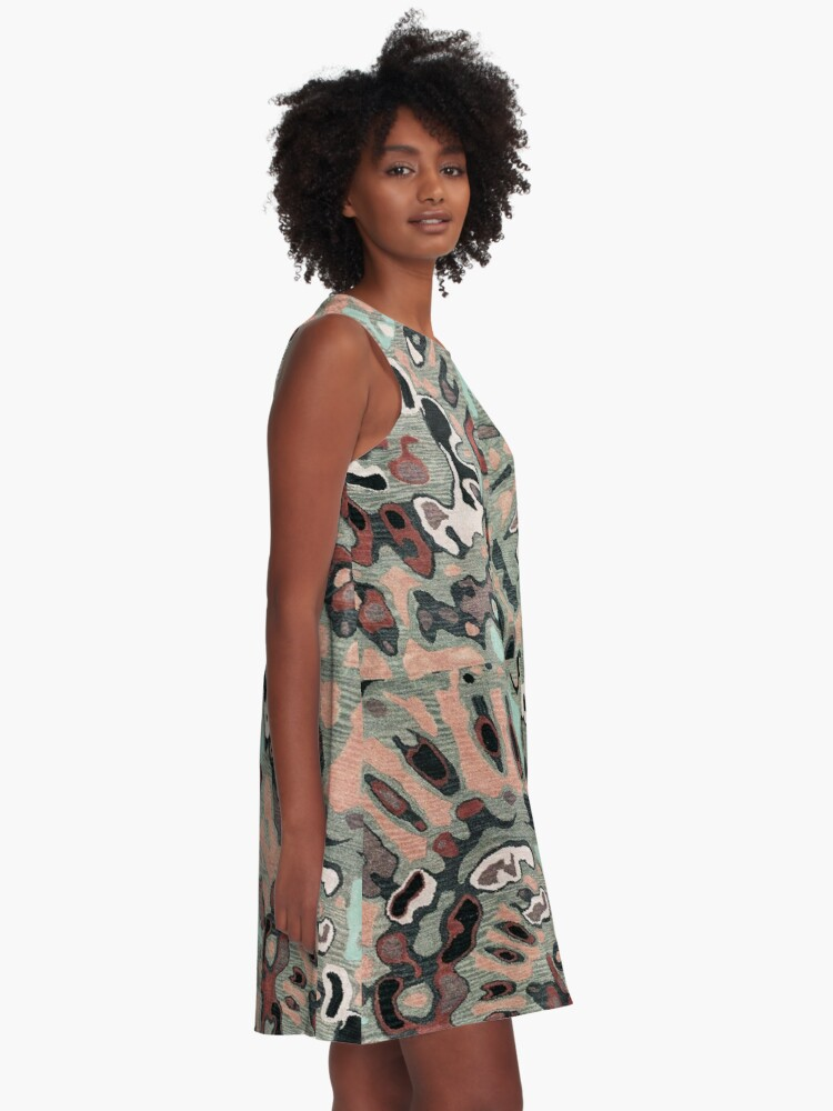 Alternate view of Art, Illustration, Modern, Contemporary, Psychedelic  A-Line Dress