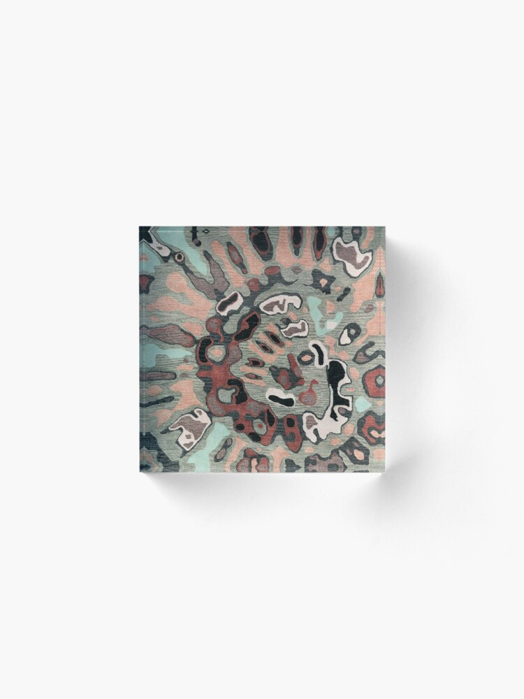 Alternate view of Art, Illustration, Modern, Contemporary, Psychedelic  Acrylic Block