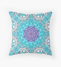 Boho chic Moroccan Pattern purple Turquoise  mandala  Throw Pillow