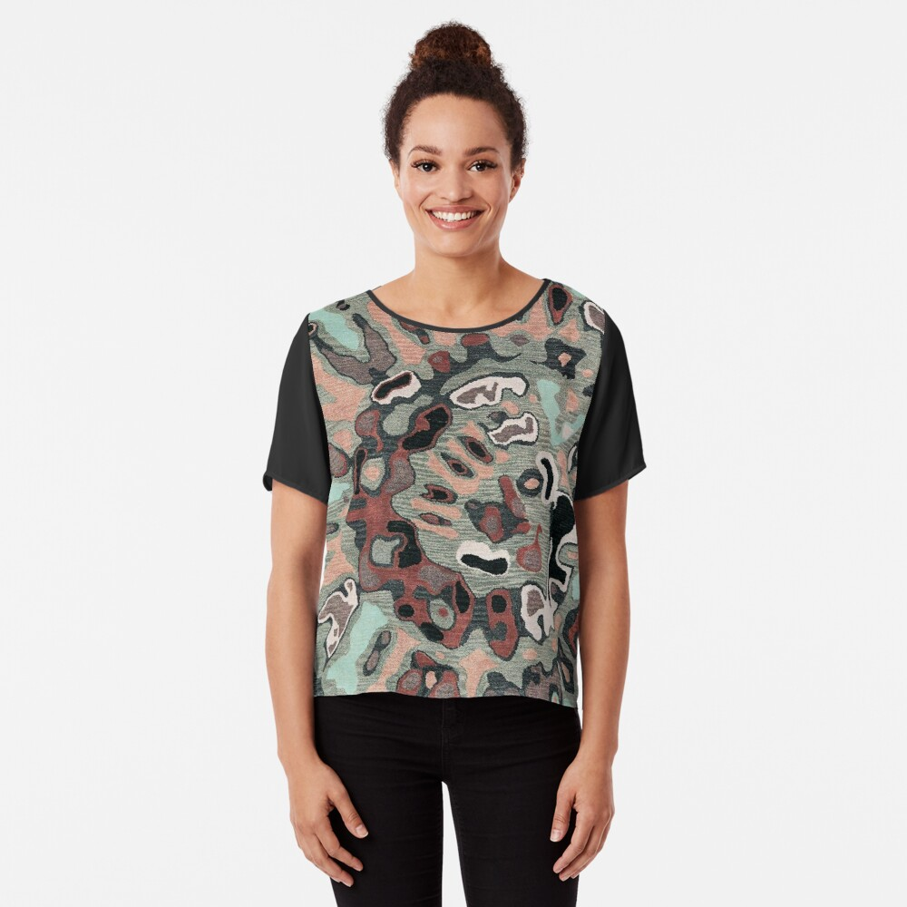 Art, Illustration, Modern, Contemporary, Psychedelic  Chiffon Top