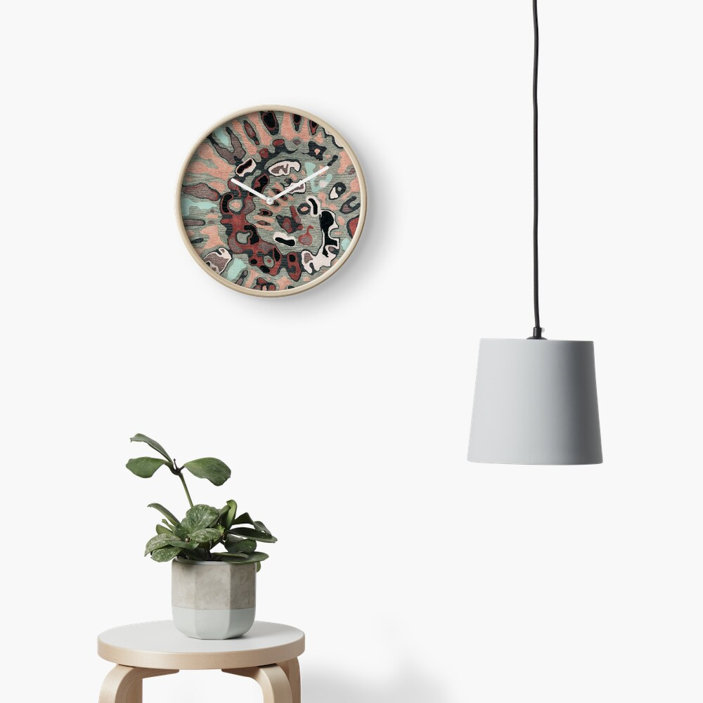Art, Illustration, Modern, Contemporary, Psychedelic  Clock