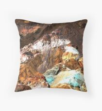 Artist Palette, Death Valley Throw Pillow