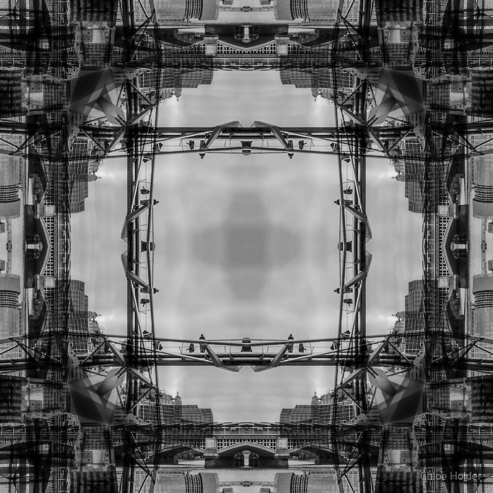 London Abstract Mirrored Architecture - Skyline by Chloe Holder