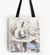Alice Meets the Caterpillar Tote Bag