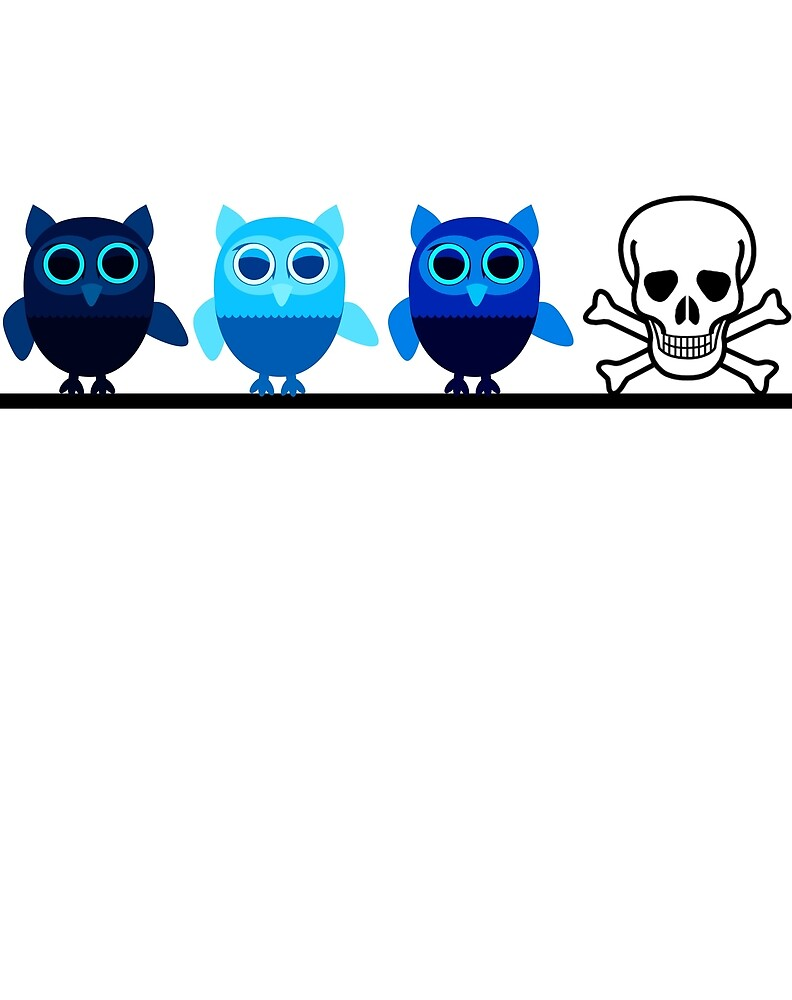 Owl & Skull 'One Of These Things Is Not Like The Others' by ChaosEmporium