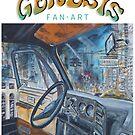 Genesis Fanart Fly on a Windshield from The Lamb Lies Down on Broadway by Frank Grabowski von Frank Grabowski