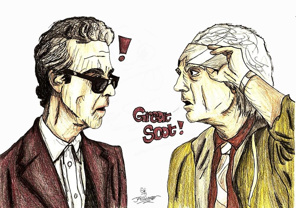 The Doctors meet by JFassenfeltArt