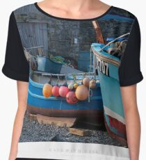 Cadgwith Cove, Cornwall Women's Chiffon Top
