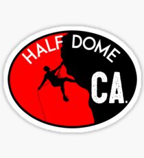 HALF DOME YOSEMITE NATIONAL PARK CALIFORNIA CLIMBING MOUNTAINEERING ROCK RAPPELLING Sticker