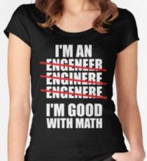 I'm An Engineer - I'm Good At Math Women's Fitted Scoop T-Shirt