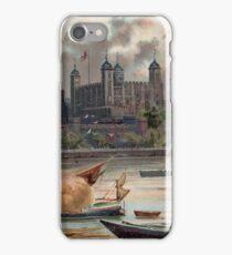 Tower of London, vintage illustration iPhone Case/Skin