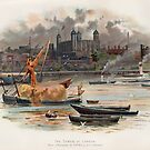 Tower of London, vintage illustration by Boxzero