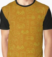 Gamers' Controllers - Mustard Yellow Graphic T-Shirt