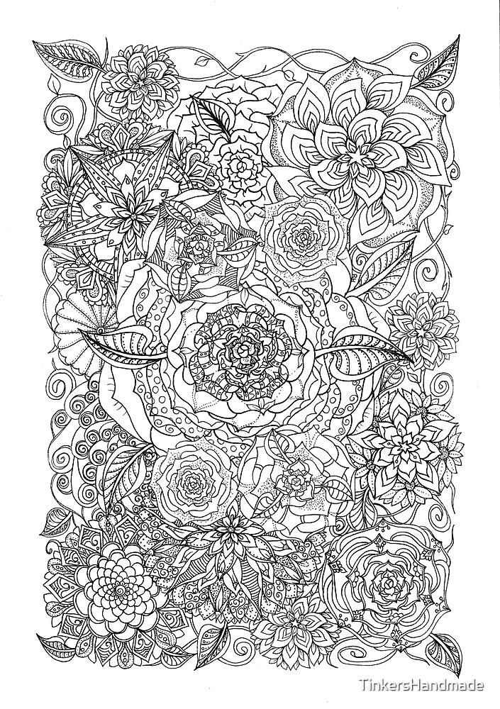 Flower garden illustration by TinkersHandmade