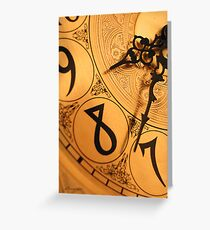 8 O'Clock Shadow Greeting Card
