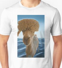 Alpacas on the water Unisex T-Shirt